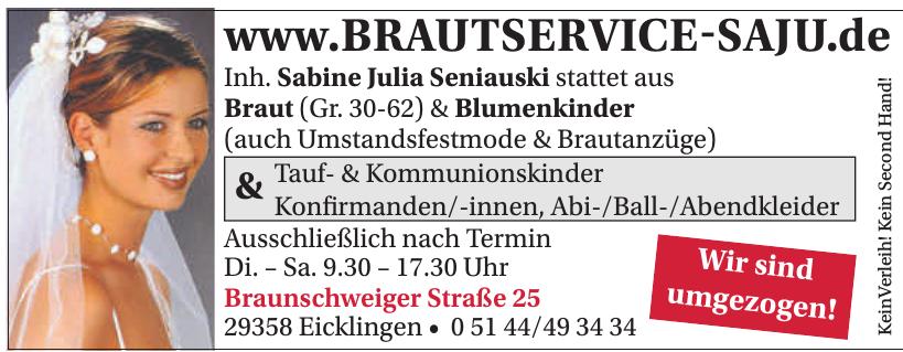 Brautservice Saju - Inh. Sabine Julia Seniauski