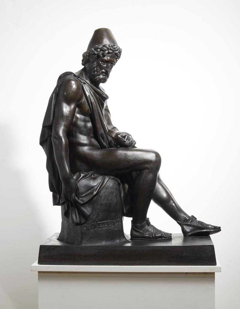 Sitzender Odysseus als Heimkehrer, Ausführung A. Meves, Berlin, 1840er Jahre. Foto: Auktionshaus Lempertz
