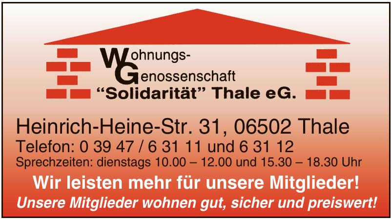 Wohnungsgenossenschaft Solidarität Thale eG