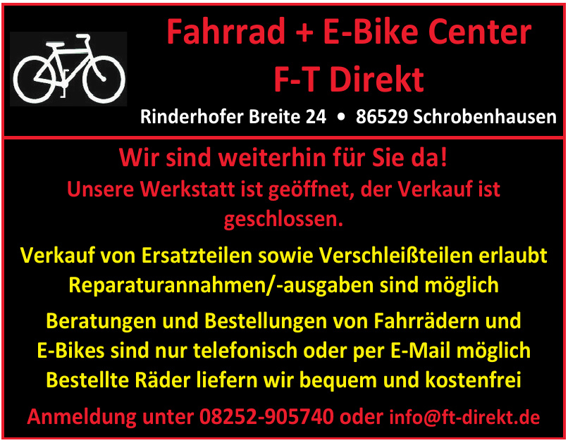 Fahrrad + E-Bike Center F-T Direkt