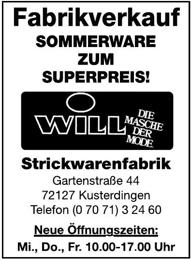 Will Strickwarenfabrik