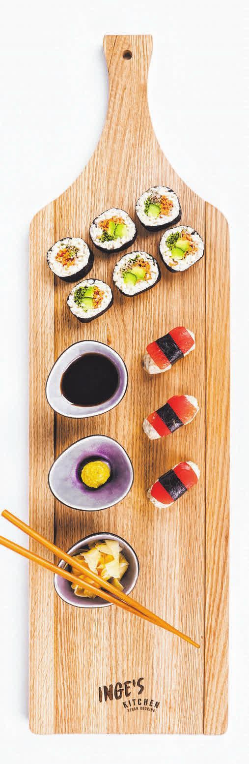 So gut: Veganes Sushi. FOTO: ZARTBITTER-DESIGN
