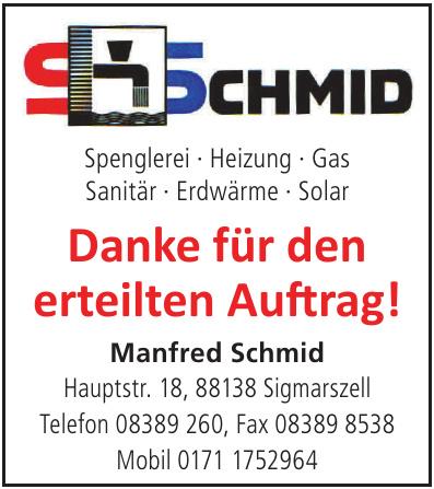 Manfred Schmid - Spenglerei · Heizung · Gas · Sanitär · Erdwärme · Solar