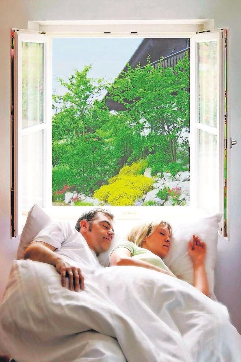 Ausschlafen ohne Mückenstich: Gerade im Schlafzimmer leisten Insekten- und Pollenschutzgitter hilfreiche Dienste.