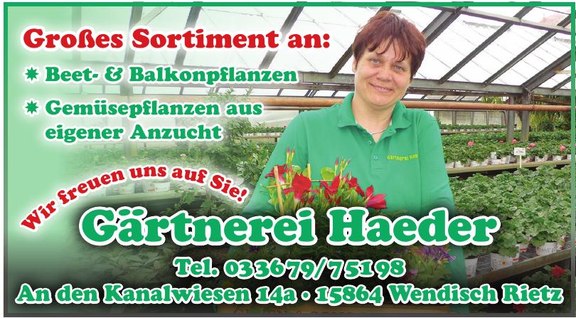 Gärtnerei Haeder