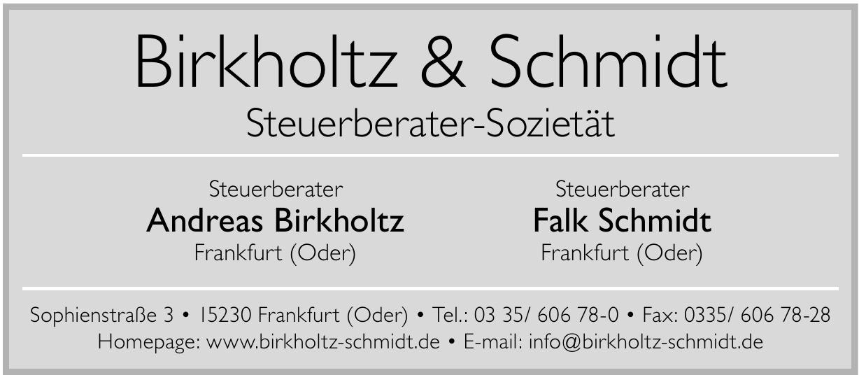 Birkholtz & Schmidt Steuerberater-Sozietät