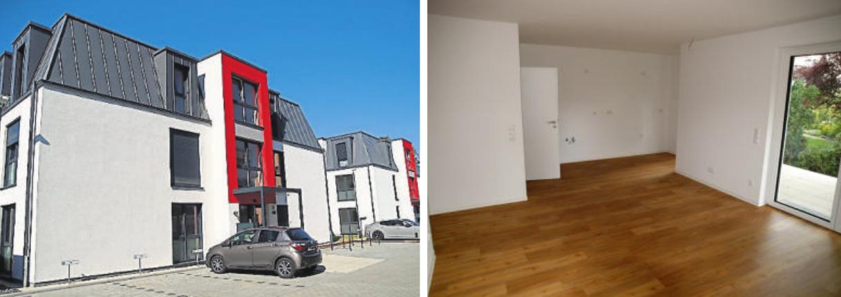Individualität und Bodenständigkeit: Sowohl die Außengestaltung der drei Mehrfamilienhäuser mit weißen Fassaden und anthrazitgrauen Mansarddächern als auch die helle Innengestaltung ist modern und zeitlos zugleich. Fotos: Zylla