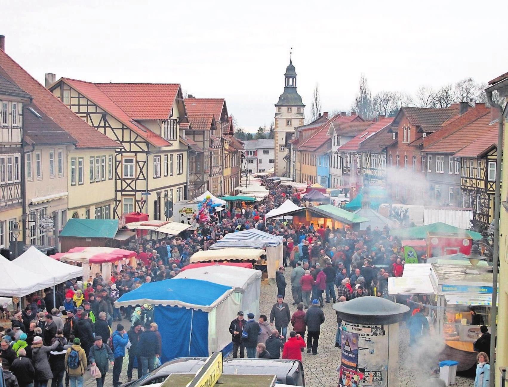 Die Römhilder Innenstadt wird wieder zu einem großen Markt. Fotos: SV