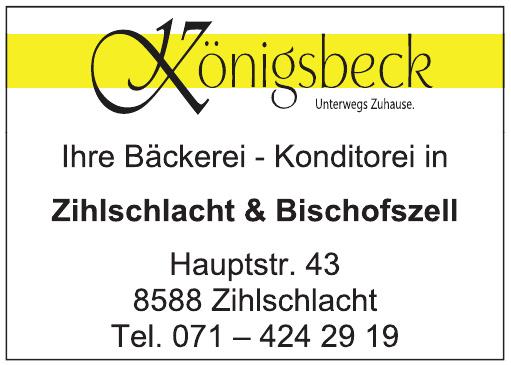 Königsbeck Bäckerei, Konditorei