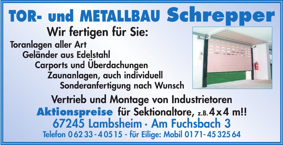 Tor- und Metallbau Schrepper