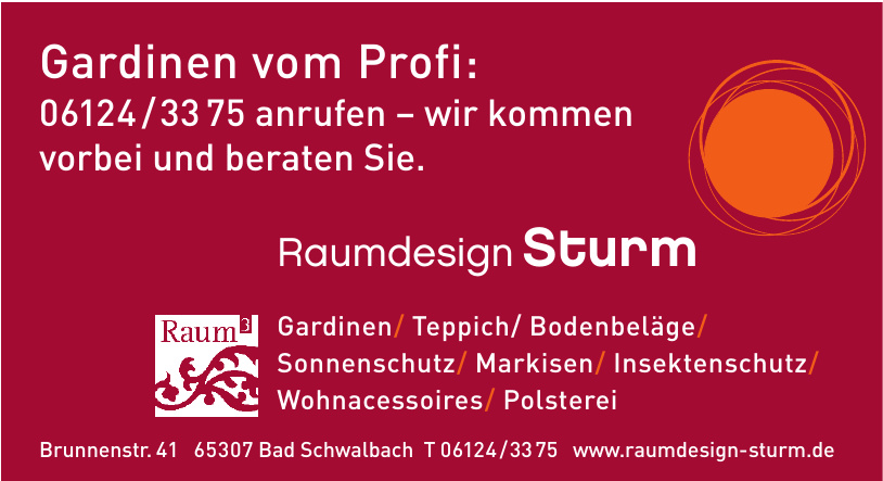 Raumdesign Sturm
