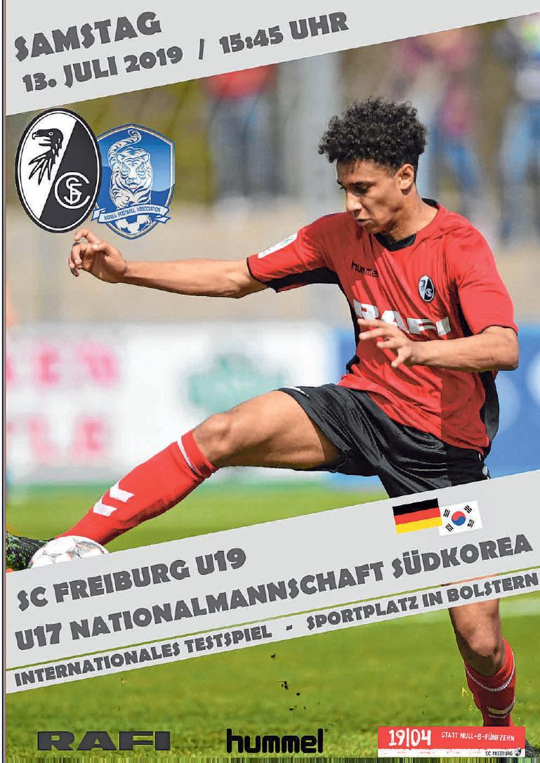 Mit diesem Plakat wirbt der SV Bolstern für das ungewöhliche Einlagespiel am kommenden Samstag.