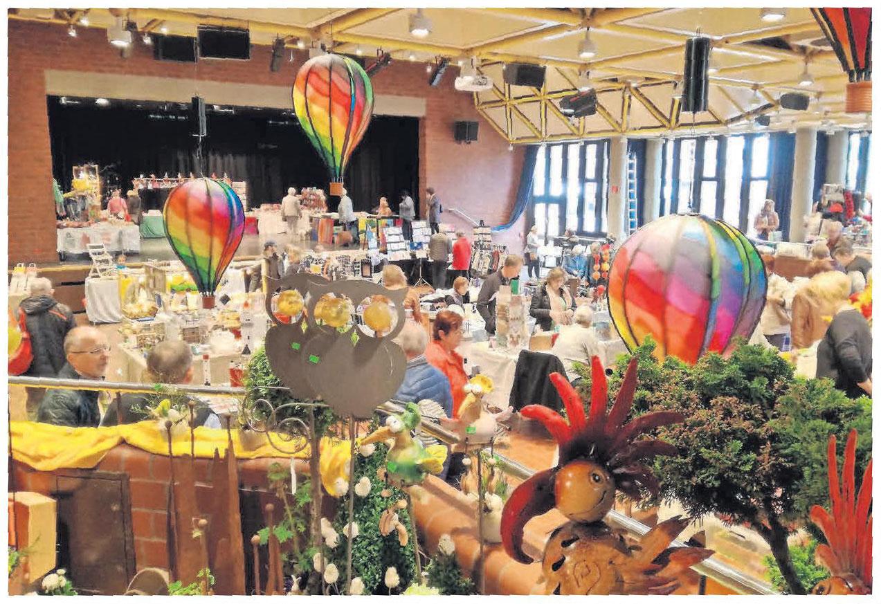 40 Aussteller zeigen im Kurt-Hirschfeld-Forum ihre Hobbykunst.
