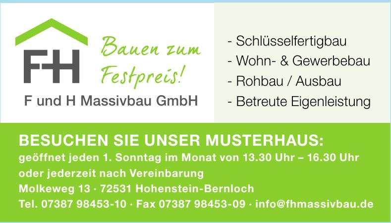 FH F und H Massivbau GmbH