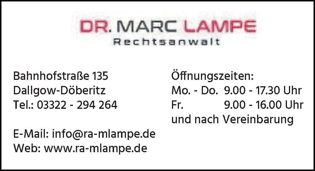Dr. Marc Lampe - Rechtsanwalt