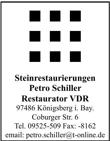Steinrestaurierungen Petro Schiller Restaurator VDR