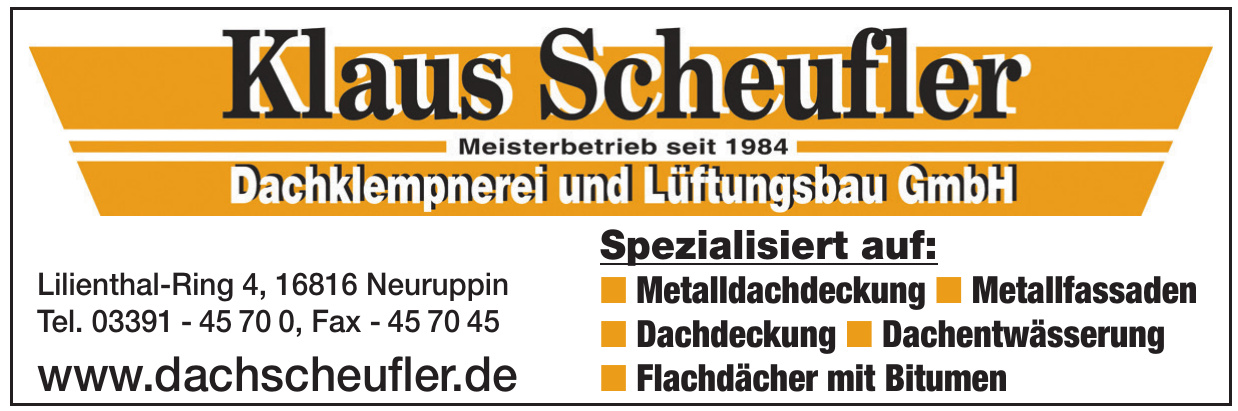 Klaus Scheufler Dachklempnerei und Lüftungsbau GmbH