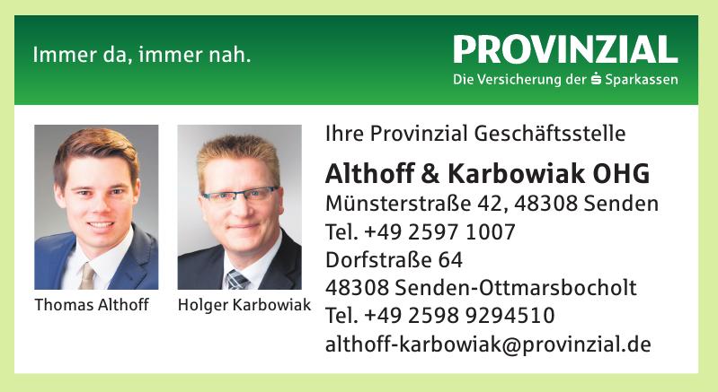 Provinzial Geschäftsstelle Althoff & Karbowiak OHG