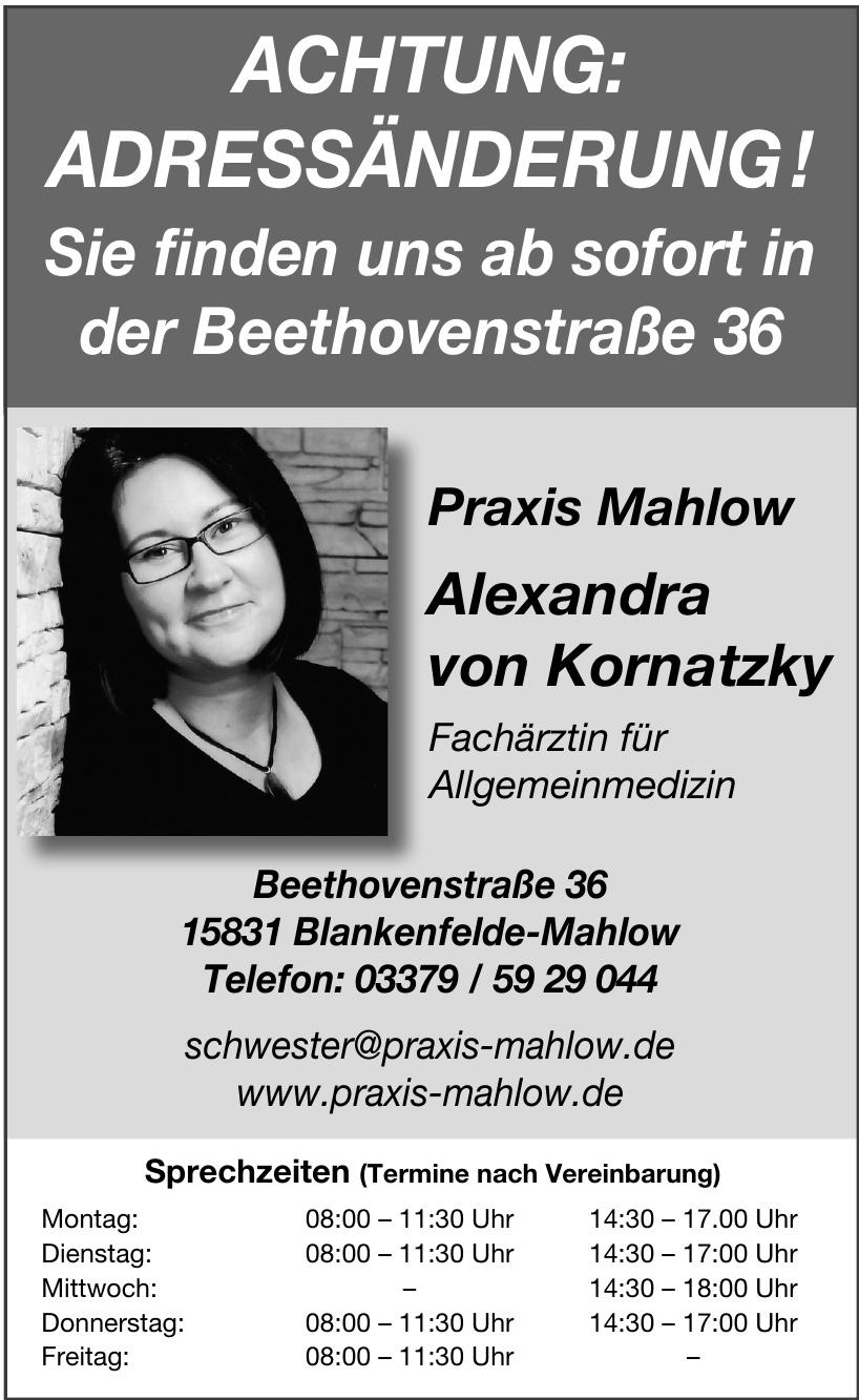 Praxis Mahlow - Alexandra von Kornatzky
