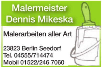 Malermeister Dennis Mikeska