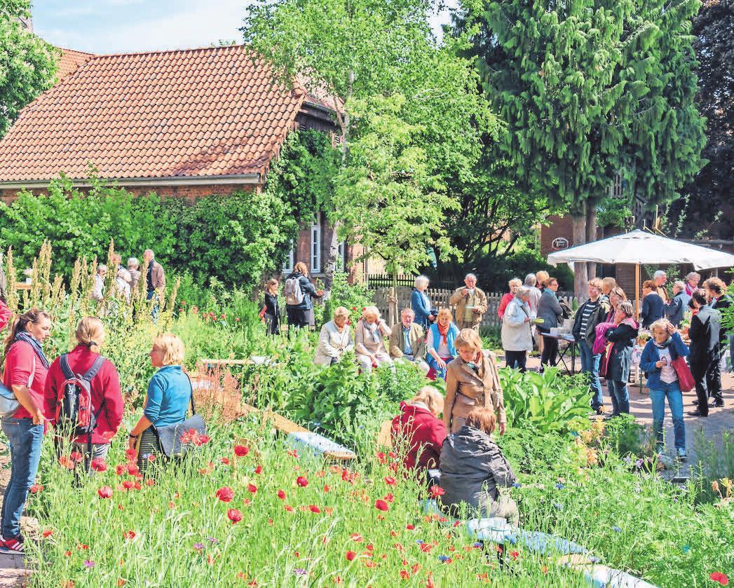 Der Allegorische Garten zieht viele Besucher an.