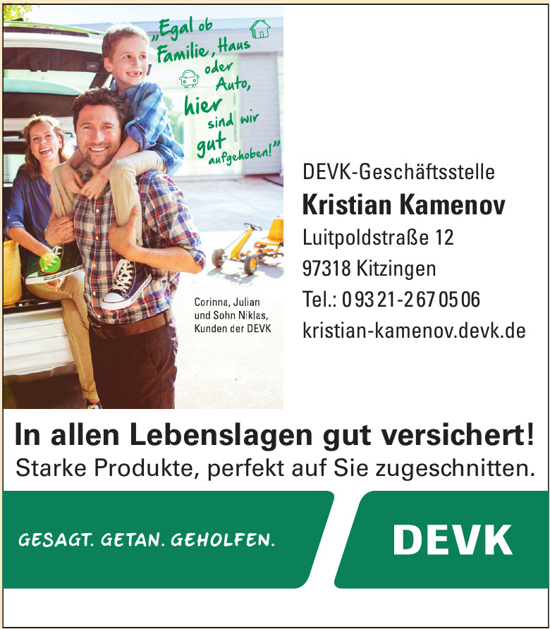 DEVK-Geschäftsstelle Kristian Kamenov