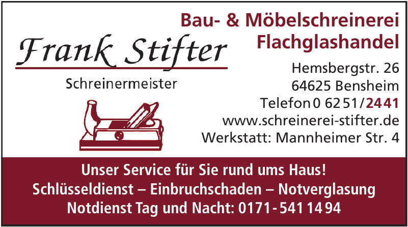 Frank Stifter Bau- & Möbelschreinerei