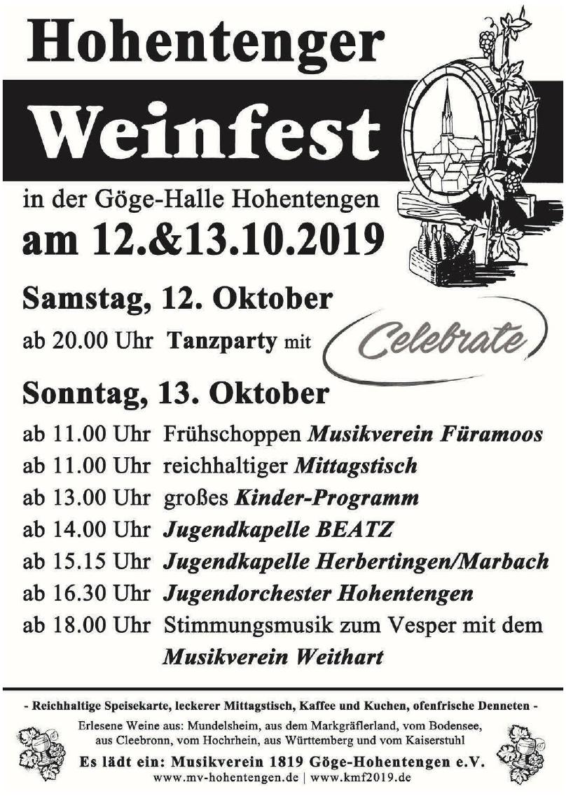Hohentenger Weinfest
