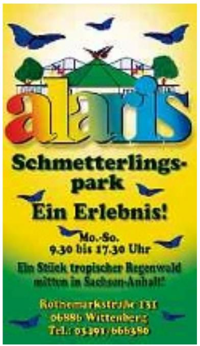Alaris Schmetterlingspark Wittenberg GmbH