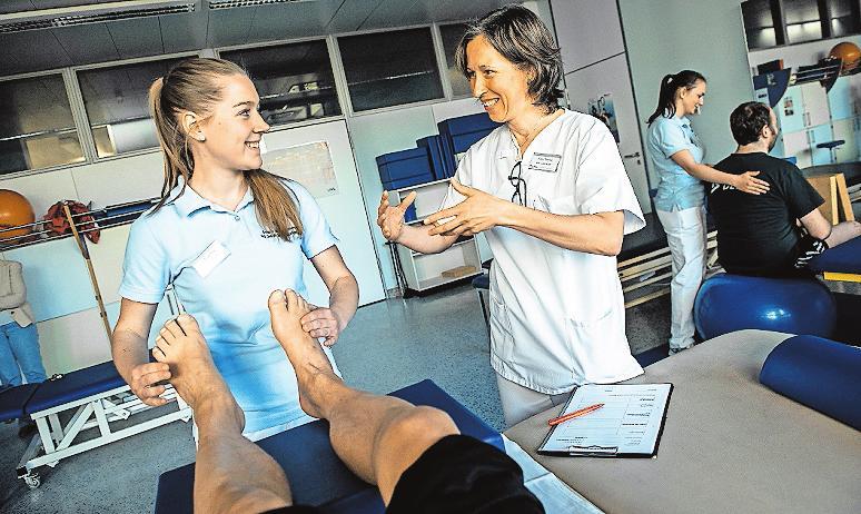 Praktischer Unterricht am Patienten. FOTO: BG/FRE