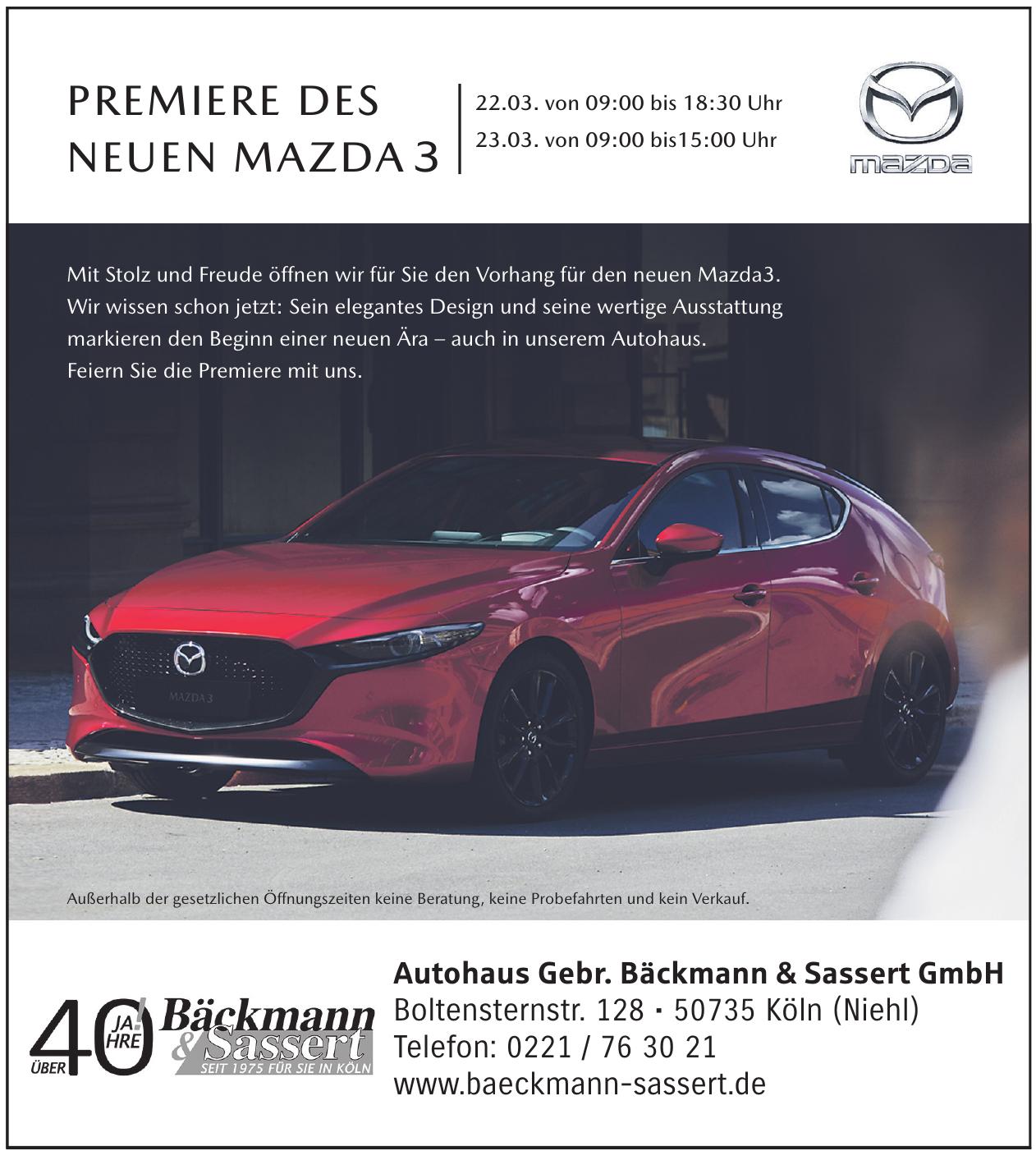 Autohaus Gebr. Bäckmann & Sassert GmbH