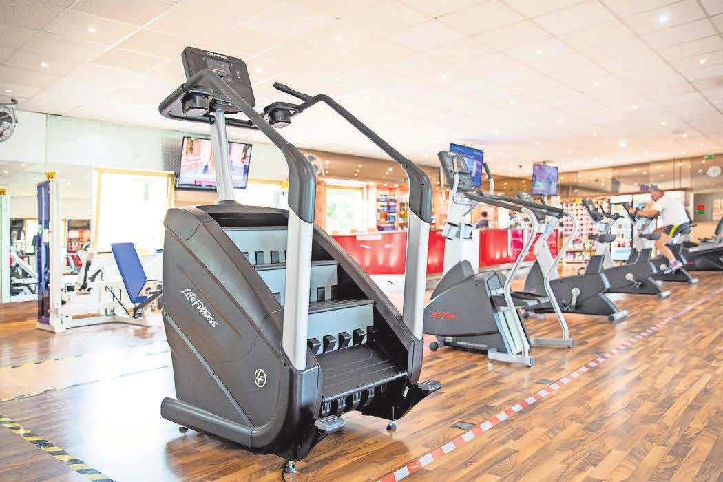 Der Fitnesspark Burgdorf hat zwei neue Treppensteiger angeschafft, auf denen der Kreislauf so richtig in Schwung kommt und besonders viele Kalorien verbrannt werden.