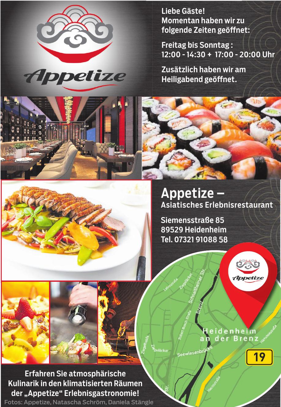 Appetize - Asiatisches Erlebnisrestaurant