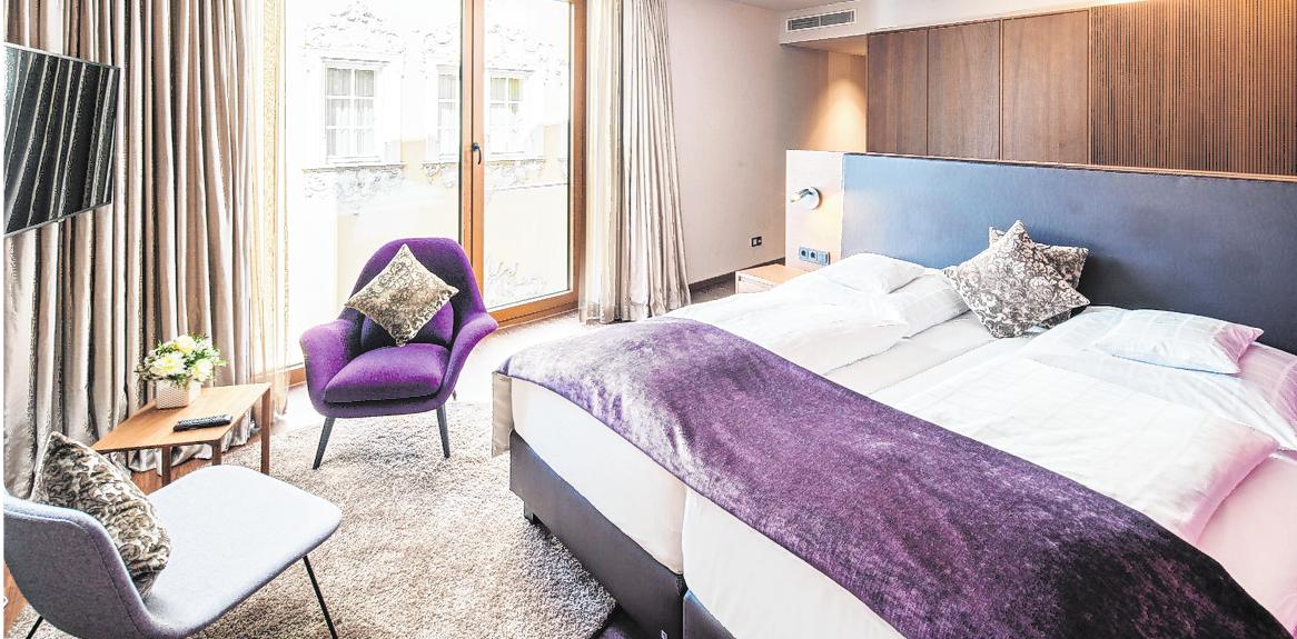 Individuell und mit viel Liebe zum Detail gestaltete Hotelzimmer sind das Markenzeichen des Rebstocks.