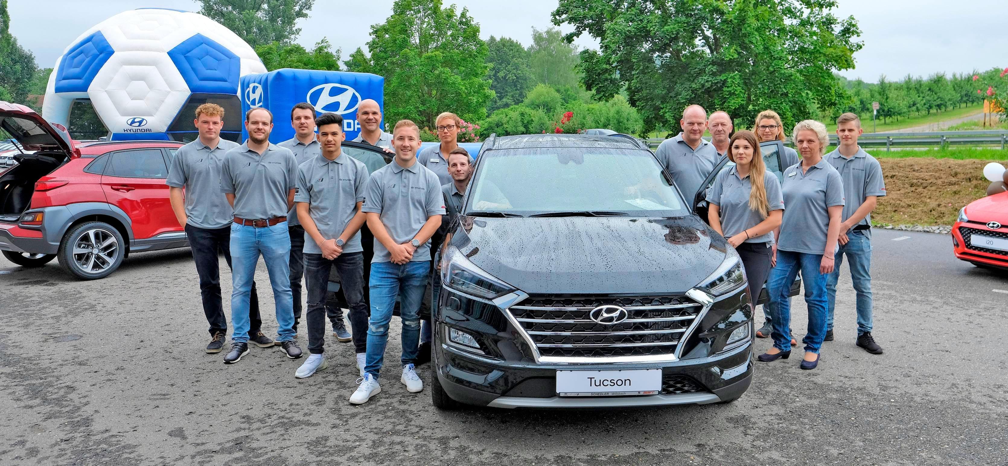 Das kompetente und freundliche Team des Autohauses Schedler in Obersulm-Willsbach bietet nun einen Rund-um-Service für Neu- und Gebrauchtwagen der Marke Hyundai an. Fotos: Dennis Mugler