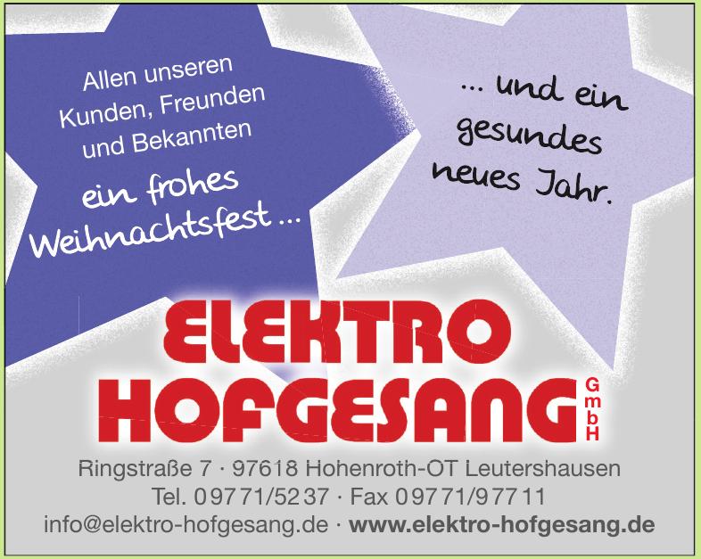 Elektro Hofgesang GmbH