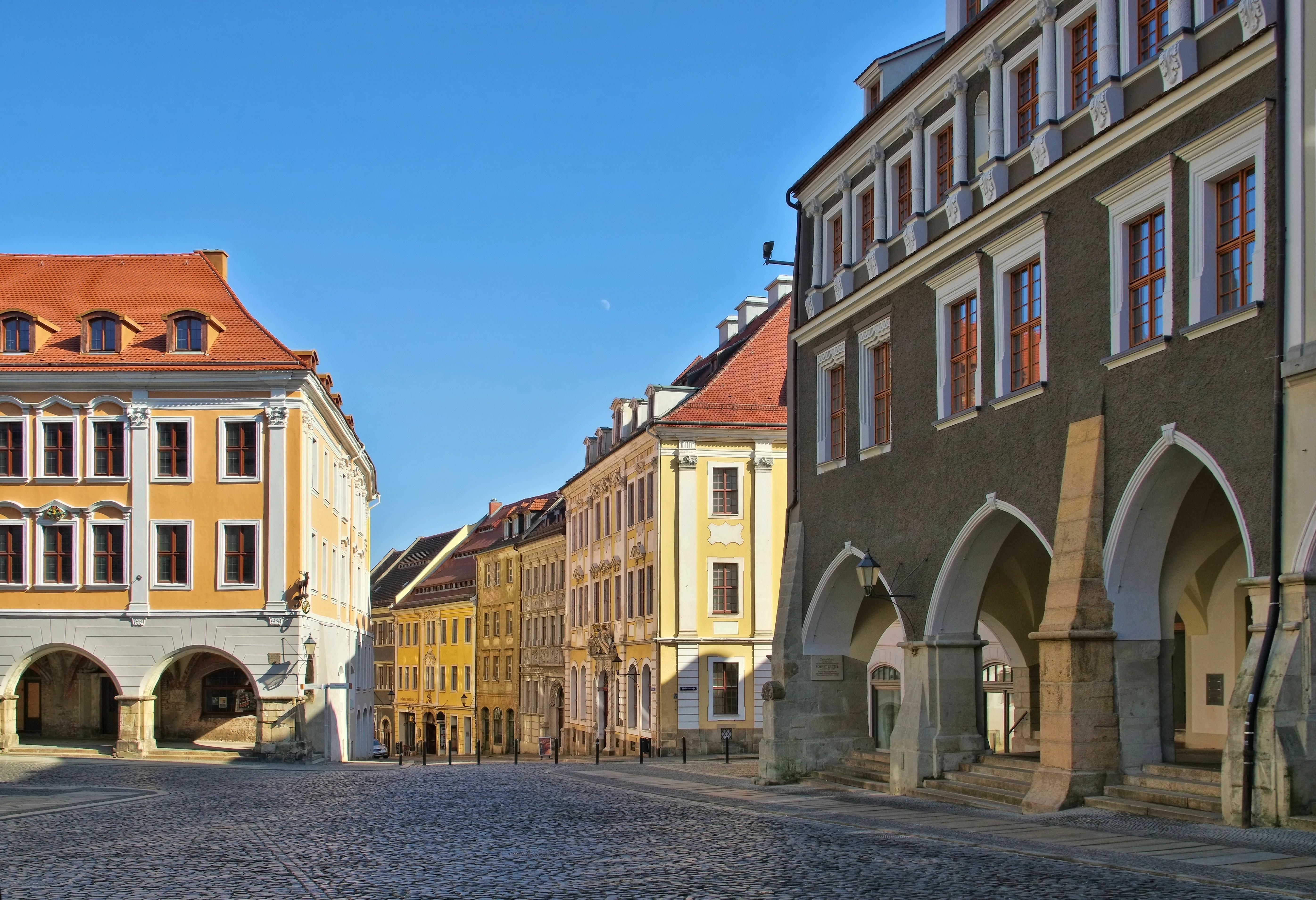 Hallenhäuser wie hier am Görlitzer Untermarkt sind typisch fürs Stadtbild