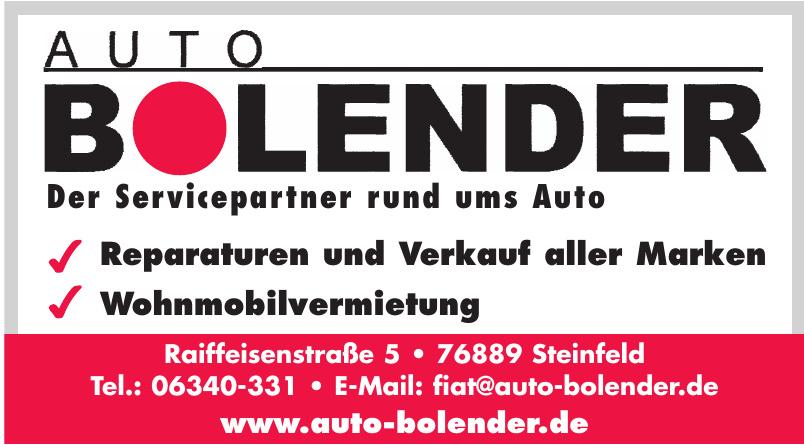 Auto Bolender