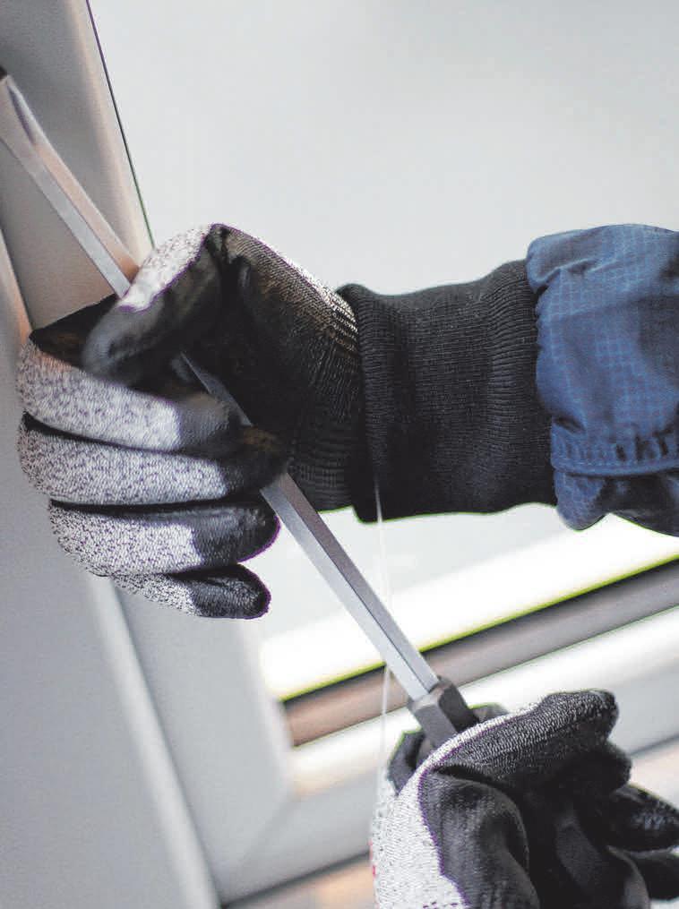 Das Aufhebeln ist die von Einbrechern am häufigsten benutzte Methode. FOTO: A. KAYA