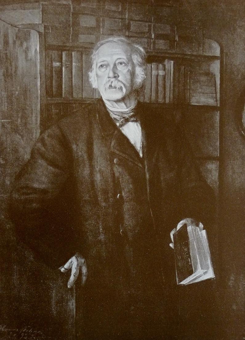 Theodor Fontane, nach einem Gemälde von Hanns Fechner. Gemeinfrei, stammt aus einer Publikation von 1909.