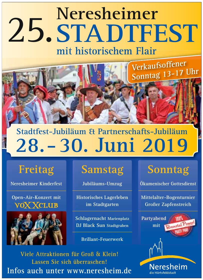 25. Stadtfest Neresheimer