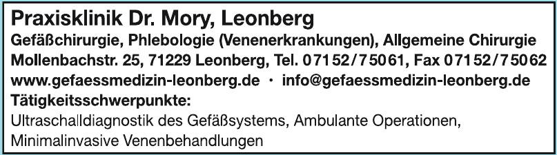 Praxisklinik Dr. Mory, Leonberg