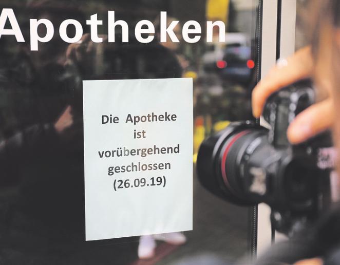 Die betroffene Apotheke und ihre Filialen waren zeitweise von der Stadt geschlossen worden. Foto: dpa