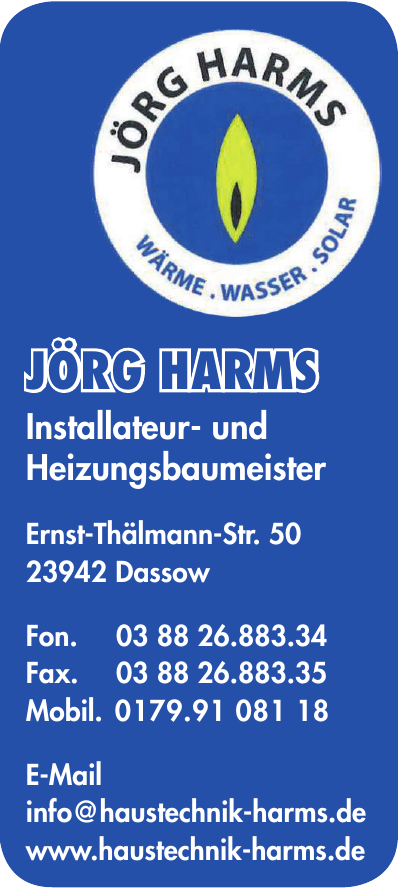 Jörg Harms Installateur- und Heizungsbaumeister