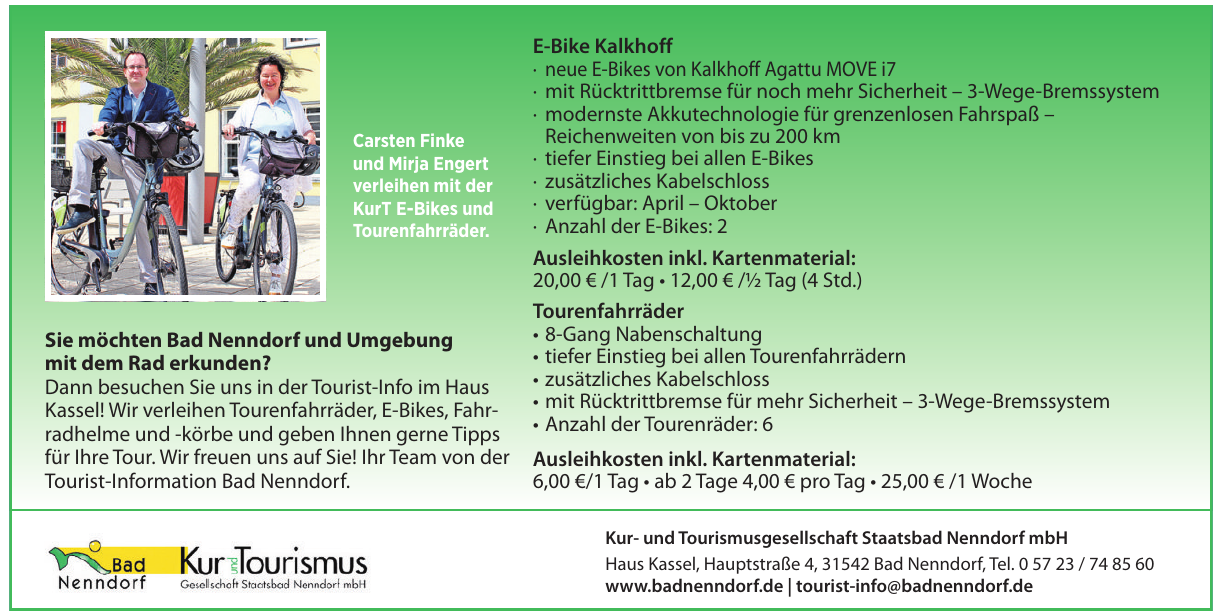 Kur- und Tourismusgesellschaft Staatsbad Nenndorf mbH