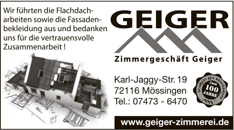 Zimmergeschäft Geiger