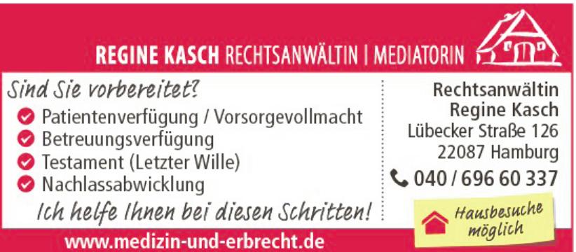 Rechtsanwältin und Mediatorin Regine Kasch