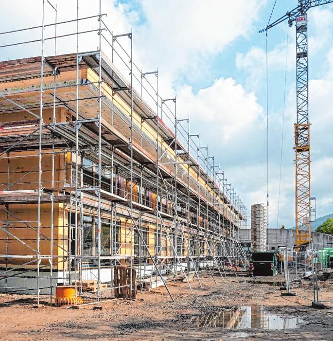 Die Kita am Berliner Ring soll im Frühjahr 2022 fertiggestellt sein. Bild: Thomas Neu