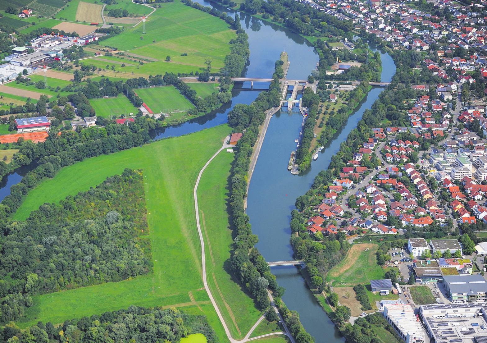 Blick auf Pleidelsheim. Foto: Werner Kuhnle