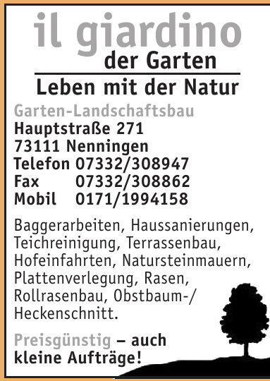il giardino Garten-Landschaftsbau